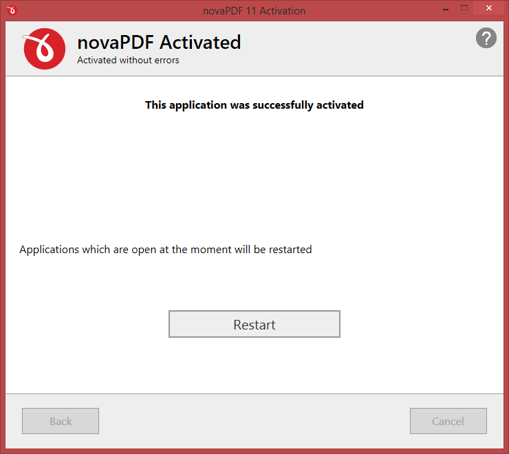 activation done