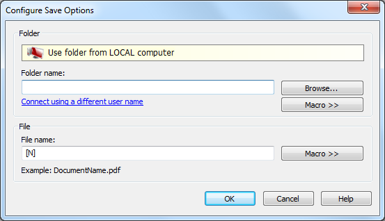 configure predefined save options