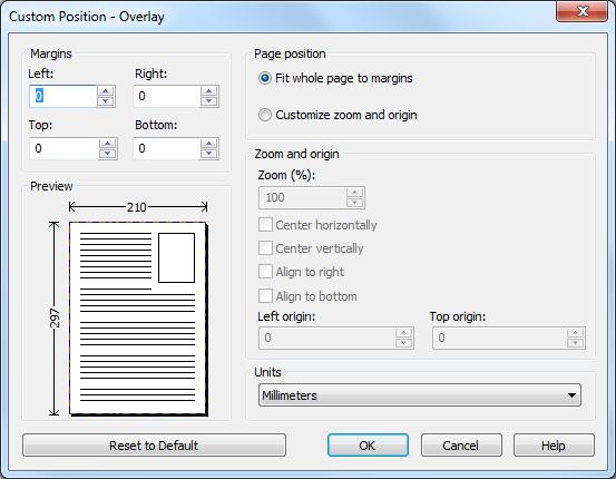 custom position overlay