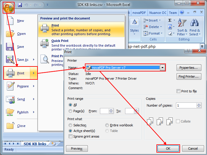 Convert comma separated values (CSV) files to PDF