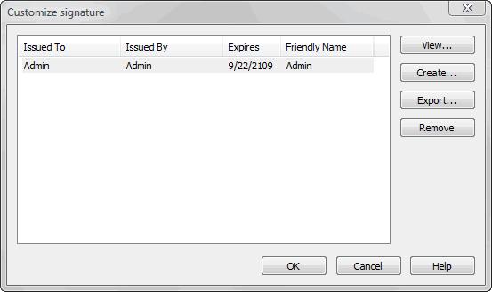 select certificate