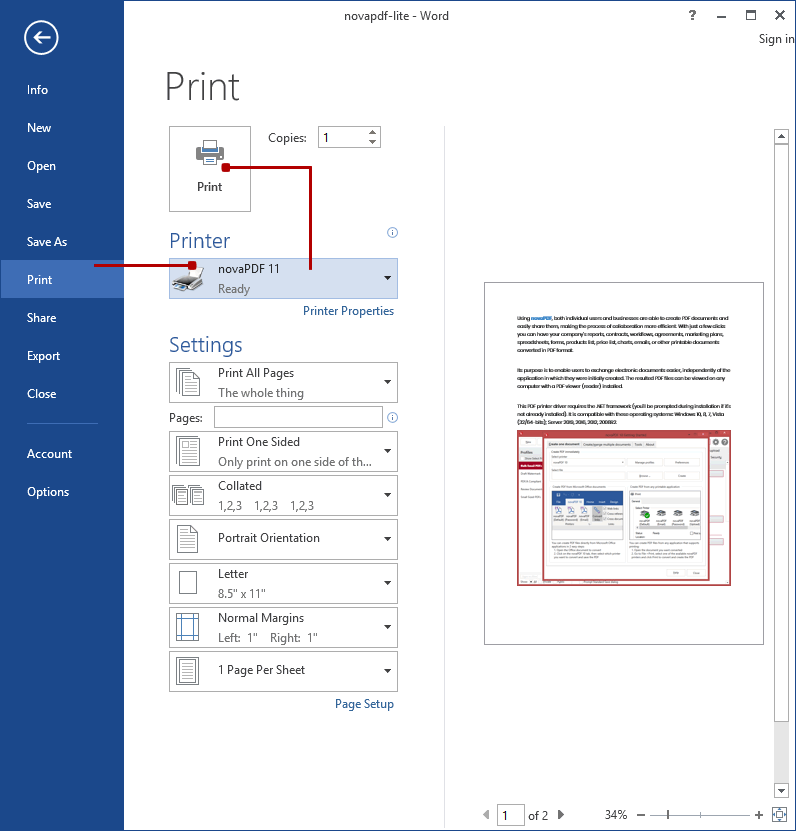 Convert Word to PDF (Microsoft Office Word documents to PDF)